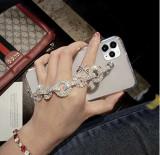 Husa cu bratara de mana + pietricele pt iPhone 11 , 11 Pro , 11 Pro Max