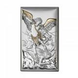 Icoana Argint Arhanghelul Mihail Auriu 12x20 cm Cod Produs 2752
