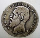 R.037 ROMANIA CAROL I 1 LEU 1884 ARGINT 4,7g