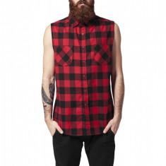 Camasa sleeveless checked flanell shirt Urban Classics M EU