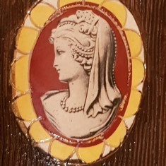 Jardiniere set ceramica DERUTA ITALIA PICTURA Epoca lady vaza - antichitati