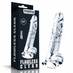 Dildo cu ventuza Flawless Clear Dildo 19 cm