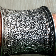 Bratara GIGANT - mare argint 925 reglabila lata 8cm - manufactura veche