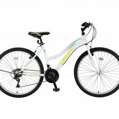 "Bicicleta MTB Umit Colorado Bayan Cadru 16"", 21 Viteze , Culoare Alb/Lime/TurcoaPB Cod:26000000001, V-brake"