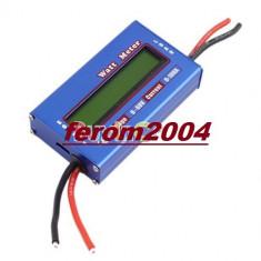 Voltmetru, Watt metru si ampermetru,  4 - 60 V, 100 A, culoare albastru