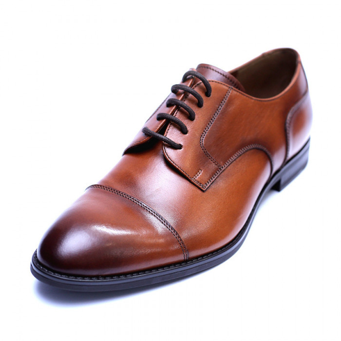 Pantofi barbati din piele naturala, Marlon, ANNA CORI, Maro, 40 EU