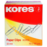 Agrafe Birou Metalice Kores, 25 mm