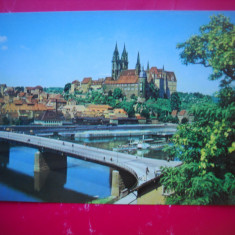 HOPCT 68269  MEISSEN CASTELUL ALBRECHT CATEDRALA -PODUL  -GERMANIA-NECIRCULATA