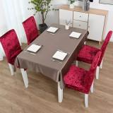 Set 4 huse scaun catifea, Rosu