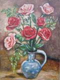 Pictura vaza cu flori semnat Cimpoesu