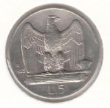 ITALIA - 5 LIRE 1929 , Ag835, LIT1.12, Europa