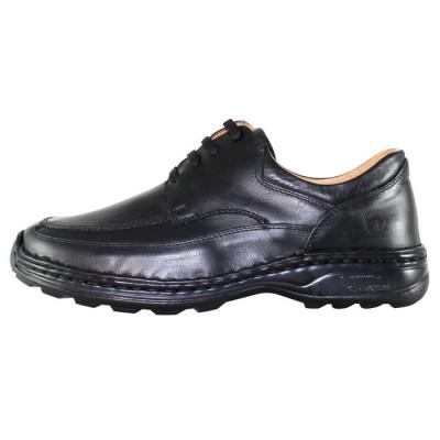 Pantofi casual barbati piele naturala - Gitanos negru - Marimea 43 foto