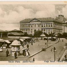 1213 - CRAIOVA, Market, Justice Palace, Romania - old postcard - unused
