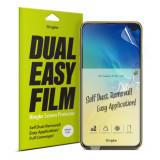 Cumpara ieftin Set 2x Folie Samsung S10e, Auto-Curatare, Ringke Dual Easy, Transparent