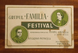 Invitație Grupul FAMILIA la Festival MIHAI EMINESCU (Oradea - 28 februarie 1937)