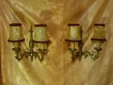 Set aplice bronz dore sec 19 stil Baroc Victorian, antique