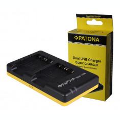 PATONA  Incarcator DUAL USB Patona pentru 2 acumulatori Sony NP-BG1 NPBG1 NP BG1