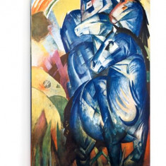Tablou pe panza (canvas) - Franz Marc - The Tower of Blue Horses - 2