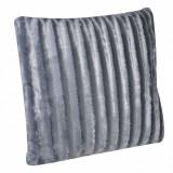 Perna decorativa, 60×60 cm, 100% poliester, gri