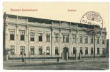 5075 - JIMBOLIA, Timis, High School, Romania - old postcard - used - 1913