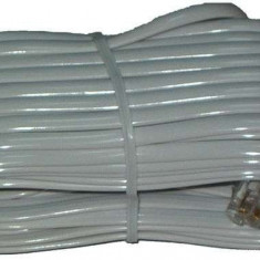 Cablu telefon extensie alb 15m