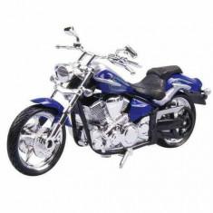 Motocicleta Motormax 1:18 Albastru Gri