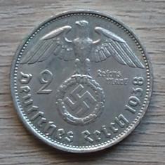 Moneda argint 2 mark 1938 Germania Reich