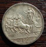(A286) MONEDA DIN ARGINT ITALIA - 2 LIRE 1916, VITTORIO EMANUELE III, Europa