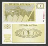 SLOVENIA  1  TOLAR  1990  UNC  [1]   P- 1 a  , necirculata