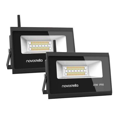 Set 2 proiectoare de podea Smart Wi-fi Novostela, 20 W, 2000 lm, LED RGB foto