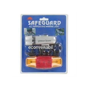 Set lanterna cu semnalizare pentru bicicleta SafeGuard