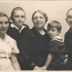 Fotografie portret copii Arad poza veche interbelica