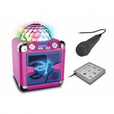 Idance Boxa portabila acumulator Li-Ion microfon tableta mixaj Bluetooth / USB 40W RMS Roz