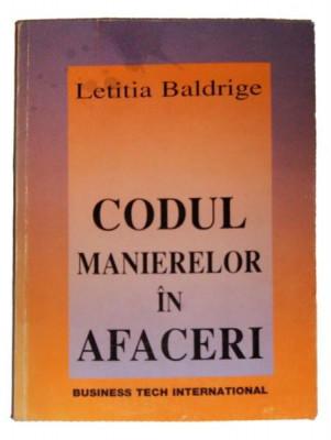 CODUL MANIERELOR IN AFACERI - BALDRIGE LETITIA foto