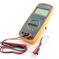 Multimetru digital DT 9208A, cu sonda de temperatura - 110848