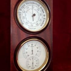 SUPERB ANSAMBLU METEO, BAROMETRU SI TERMOMETRU, GERMANIA