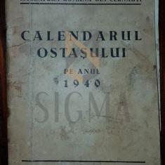 NEGURA ION - CALENDARUL OSTASULUI PE ANUL 1940 (SOCIETATEA PENTRU CULTURA SI LITERATURA ROMANA DIN CERNAUTI)