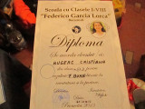 Diploma de la scoala federico garcia lorca