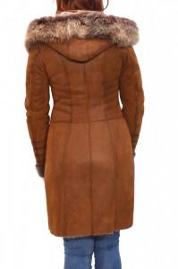 Cojoc dama, din blana naturala, Kurban, 2003-16-95, camel
