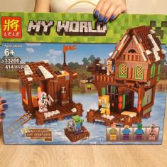 NOU/SIGILAT Set de 414 piese tip lego Minecraft My World LELE 33206