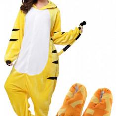 PJM129-292 Set pijama kigurumi + papuci de casa, M/L