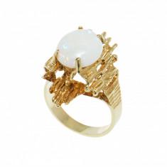 Inel aur galben 14K, cu opal, circumferinta 52.5 mm