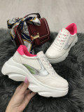 Adidasi dama albi cu platforma marime 36, 37, 38, 39, 41+CADOU