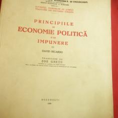 David Ricardo- Principiile de Economie  Politica si de Impunere-1939-Bibl.Monet