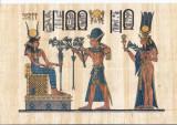PAPIRUS - RAMSES II OFERIND FLORI DE LOTUS ZEITEI ISIS - IN RAMA TIP IKEA