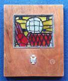 Medalia Placheta FRB competitie sportiva elevi - scoala - pionieri - BASCHET
