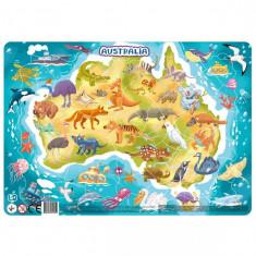 Puzzle cu rama - Australia (53 piese)