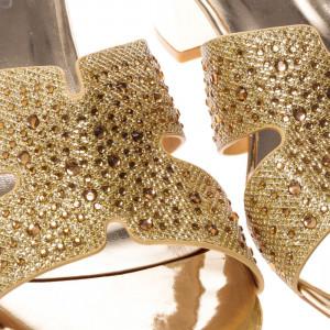 Papuci dama Ania aurii