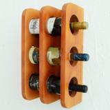 Suport din lemn pentru sticle