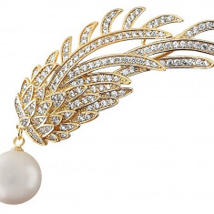 Brosa Gold Branch Pearl by Borealy